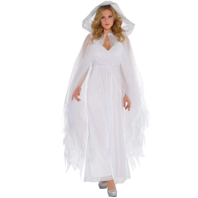 """Strój dla dorosłych """"Peleryna Scarlet Temptress"""", biały, AMSCAN, 150 cm"""