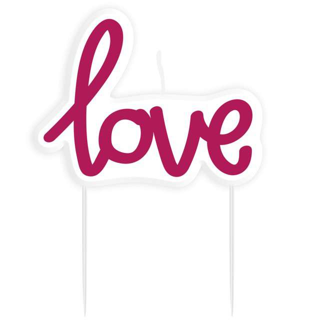 "Świeczka na tort ""Love"", AMSCAN"