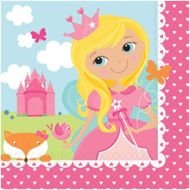 "Serwetki ""Woodland Princess"", AMSCAN, 25 cm, 16 szt"