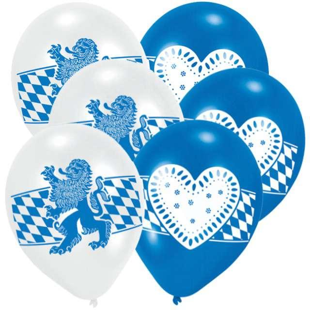 """Balony """"Oktoberfest"""", mix, AMSCAN, 9"""", 6 szt"""