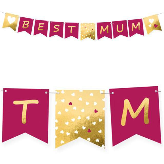 "Baner ""Best Mom"", AMSCAN, mix, 180 cm"