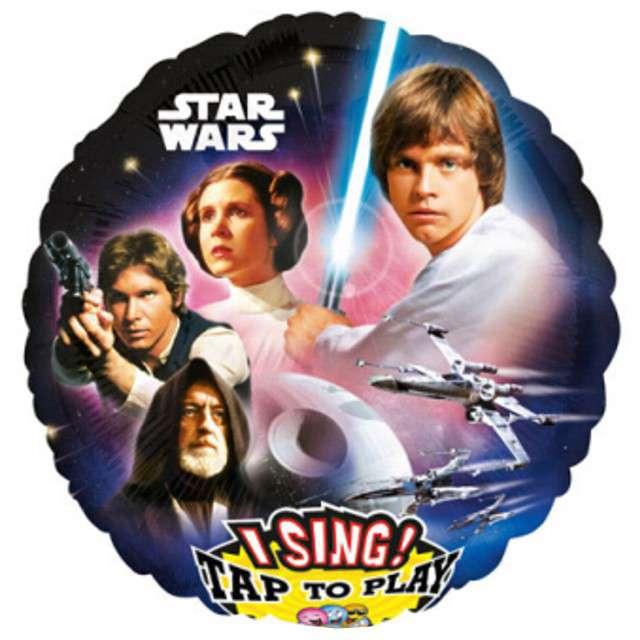 "Balon foliowy ""Star Wars Melody"", grający, AMSCAN, 28"" RND"
