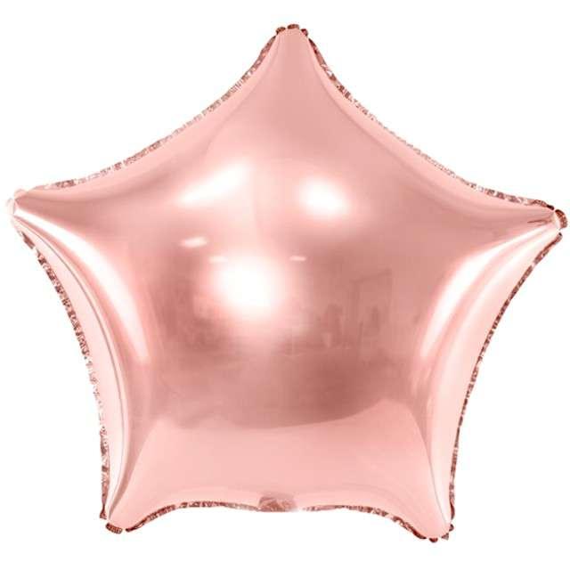 """Balon foliowy """"Gwiazdka"""", PartyDeco, różowo złoty, 19"""" STR"""