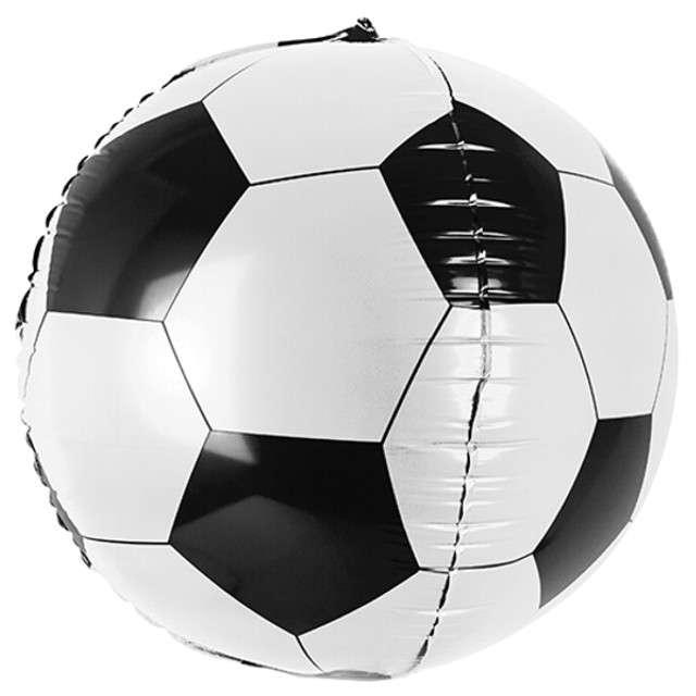 """Balon foliowy """"Piłka"""", PartyDeco, czarno biały, 16 """" ORB"""
