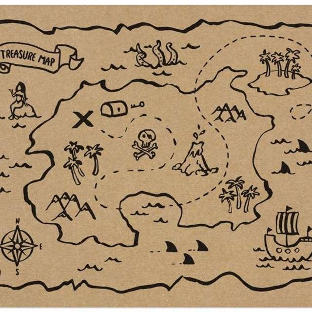 "Podkładka na stół ""Piraci"", PartyDeco, 40x30 cm, 30 szt"