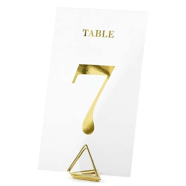 """Dekoracja """"Numery na Stół"""", PartyDeco, transparentne, 12 cm, 20 szt"""