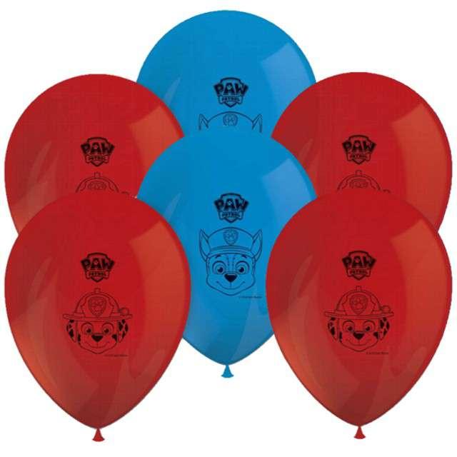 """Balony """"Paw Patrol"""", PROCOS, mix, 12"""" 8 szt"""
