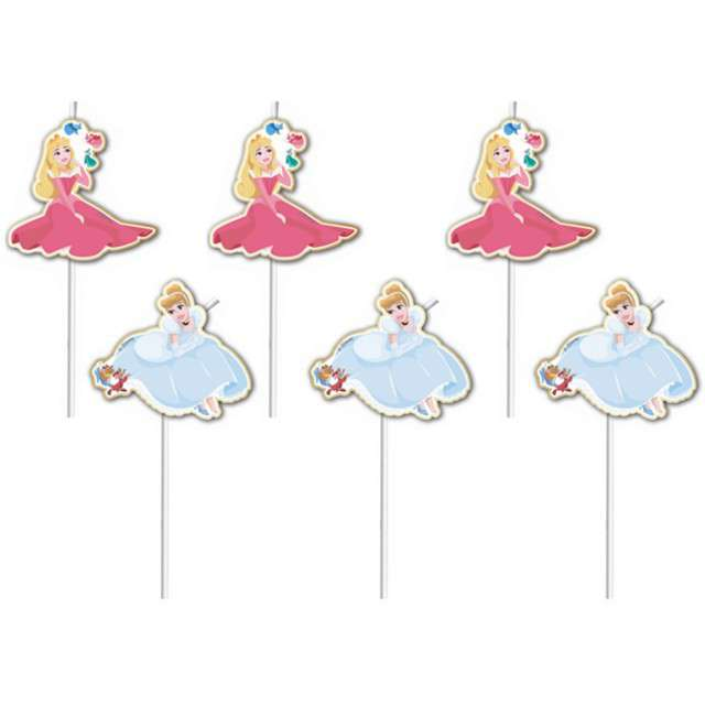 """Słomki """"Disney True Princess"""", PROCOS, 24 cm, 6 szt"""