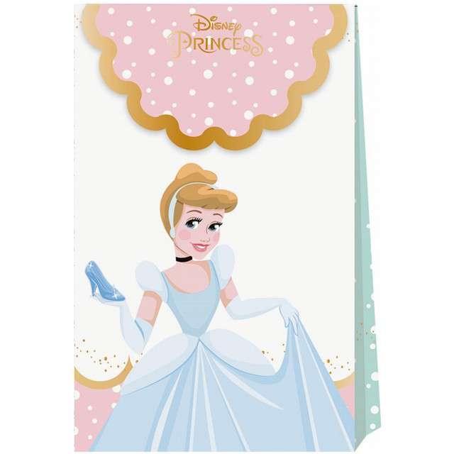 """Torebka prezentowa """"True Princess Disney"""", PROCOS, 21x12 cm, 6 szt"""