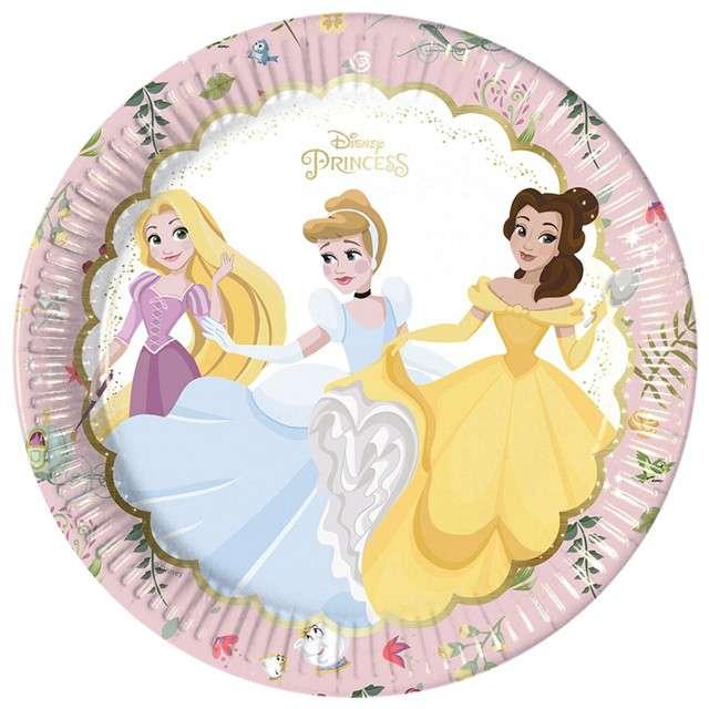 """Talerzyki papierowe """"True Princess Disney"""", PROCOS, 23 cm, 8 szt"""