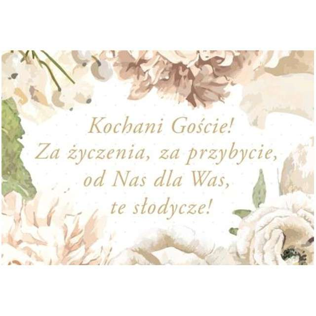"""Naklejki na ciasto """"Kwiaty - Ślub"""", TOLEDO, 20 szt"""