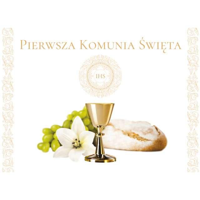 """Plakat """"Pierwsza Komunia Święta IHS"""", TOLEDO, 48x38 cm"""