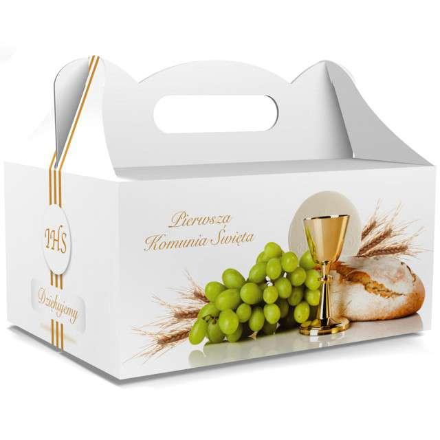 """Pudełko na ciasto """"Pierwsza Komunia Święta"""", białe, TOLEDO, 5 szt"""