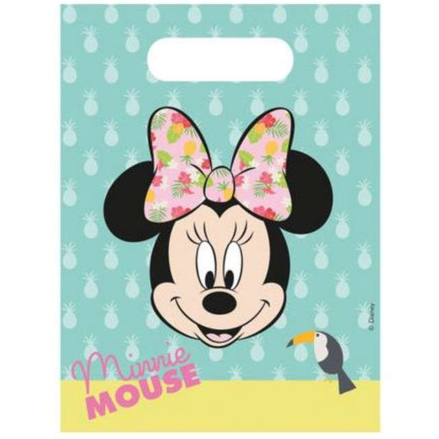 """Torebki foliowe """"Minnie Tropical Disney"""", PROCOS, 6 szt"""