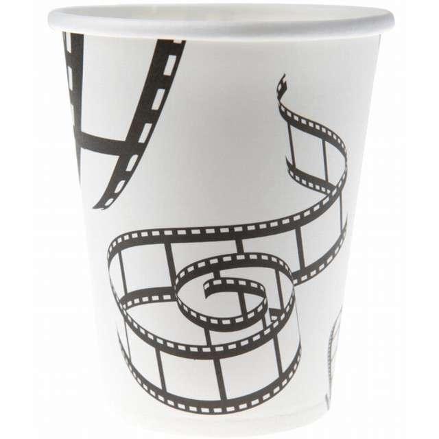 """Kubeczki papierowe """"Hollywood"""", białe, SANTEX, 250 ml, 10 szt"""