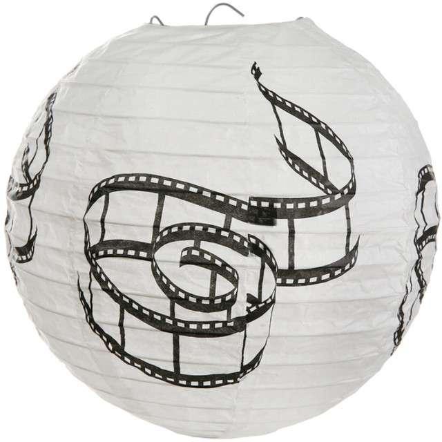 "Lampion papierowy ""Hollywood"", biały, SANTEX, 20 cm, 2 szt"