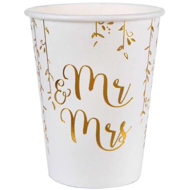 """Kubeczki papierowe """"Just Married"""", SANTEX, 250 ml, 10 szt"""
