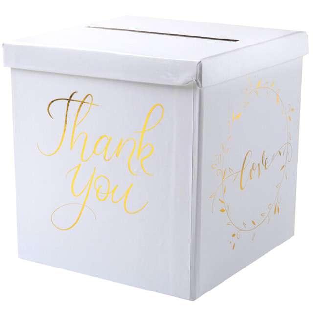 """Pudełko na koperty """"Just Married"""", SANTEX, złote metaliczne"""