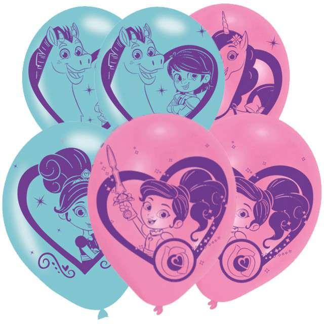 "Balony ""Nella The Princess Knight"", mix, AMSCAN, 11"" 6 szt"