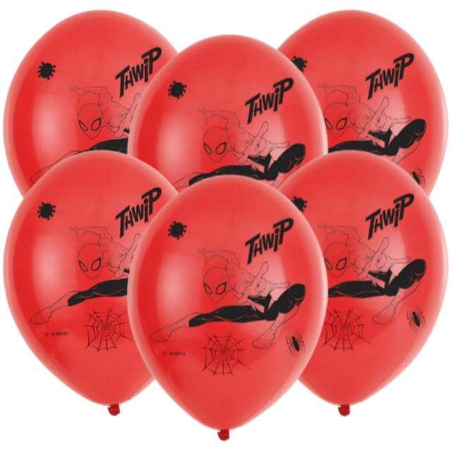 """Balony """"Spider-Man"""", czerwony, AMSCAN, 11"""", 6 szt"""