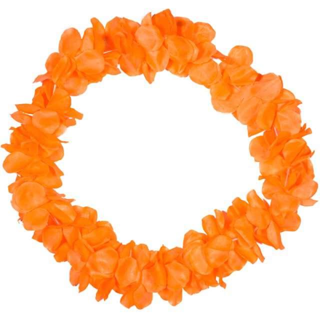 """Naszyjnik Hawajski """"Neon"""", pomarańczowy, FOLAT, 90 cm"""
