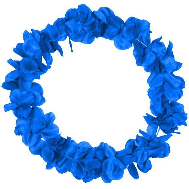 """Naszyjnik Hawajski """"Neon"""", niebieski, FOLAT, 90 cm"""