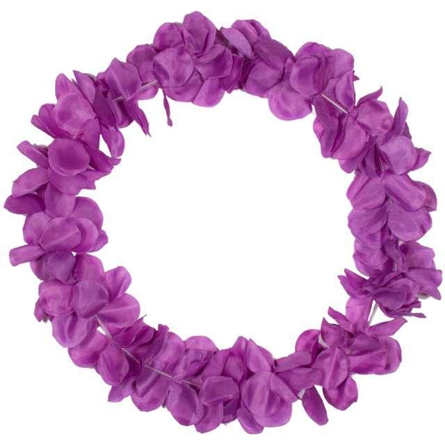 """Naszyjnik Hawajski """"Neon"""", fioletowy, FOLAT, 90 cm"""