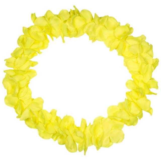 """Naszyjnik Hawajski """"Neon"""", żółty, FOLAT, 90 cm"""
