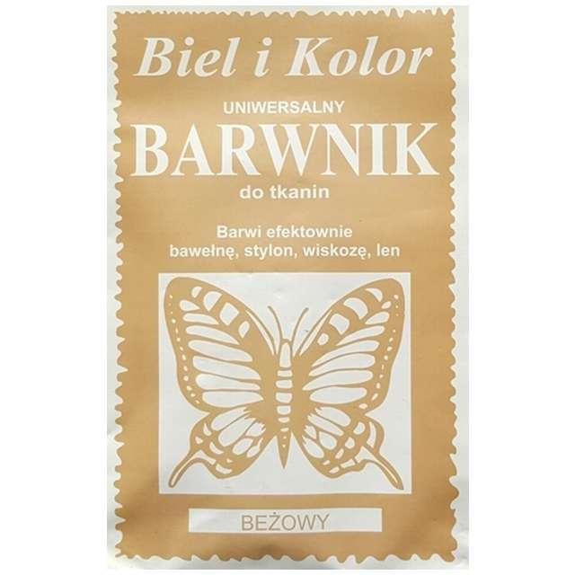 """Barwnik do tkanin """"Motyl"""", beżowy, Biel i Kolor, 10 g"""