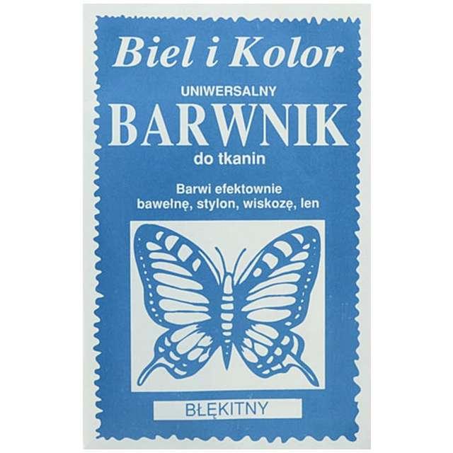 """Barwnik do tkanin """"Motyl"""", błękitny, Biel i Kolor, 10 g"""