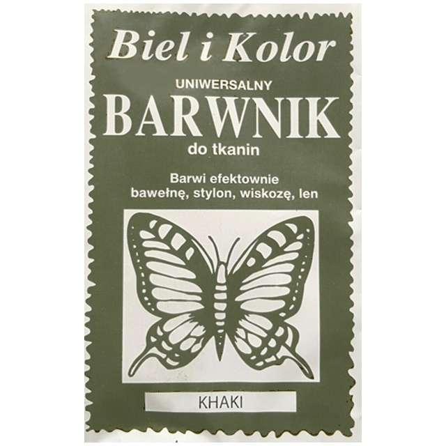 """Barwnik do tkanin """"Motyl"""", khaki, Biel i Kolor, 10 g"""