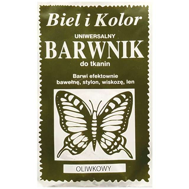 """Barwnik do tkanin """"Motyl"""", oliwkowy, Biel i Kolor, 10 g"""