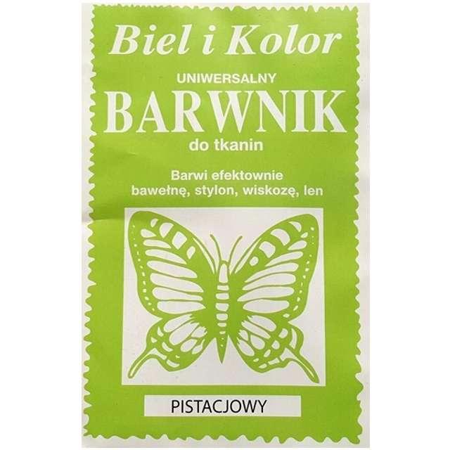 """Barwnik do tkanin """"Motyl"""", pistacjowy, Biel i Kolor, 10 g"""