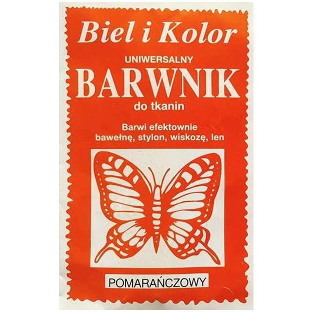 """Barwnik do tkanin """"Motyl"""", pomarańczowy, Biel i Kolor, 10 g"""