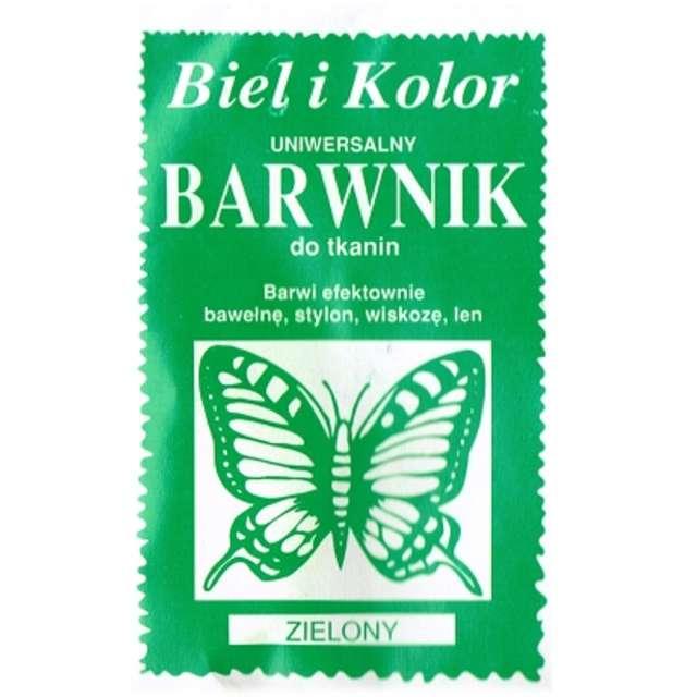 """Barwnik do tkanin """"Motyl"""", zielony, Biel i Kolor, 10 g"""