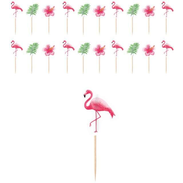 """Szpilki drewniane """"Flamingo Paradise"""", AMSCAN, 20 szt"""