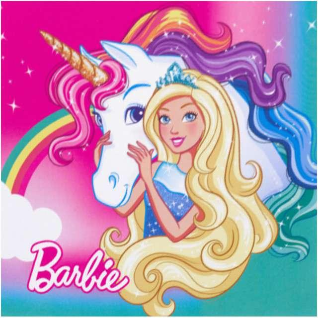 "Serwetki ""Barbie Dreamtopia"", AMSCAN, 33 cm, 20 szt"