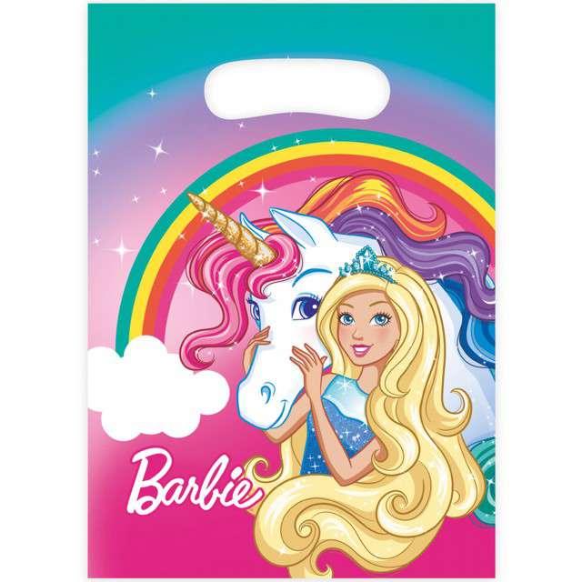 """Torebki foliowe """"Barbie Dreamtopia"""", AMSCAN, 8 szt"""