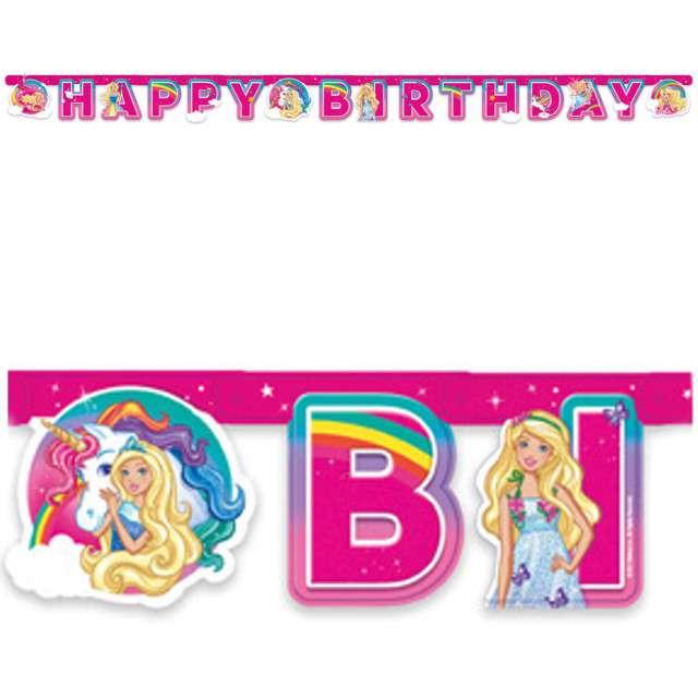 "Baner ""Barbie Dreamtopia"", AMSCAN, różowy, 200 cm"