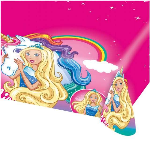 "Obrus foliowy ""Barbie Dreamtopia"", AMSCAN, 180x120 cm"