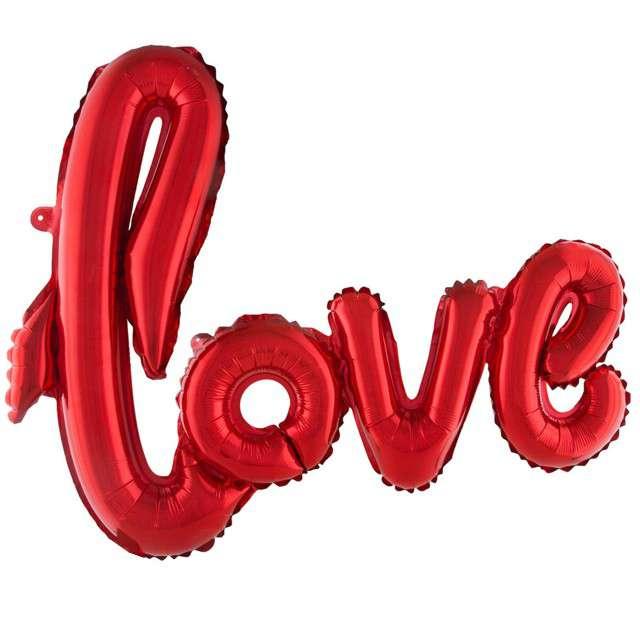 """Balon foliowy """"Love"""", czerwony, FunnyFashion, 40"""" SHP"""