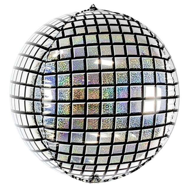 """Balon foliowy """"Kula dyskotekowa"""", holograficzny, PartyDeco, 16"""", ORB"""
