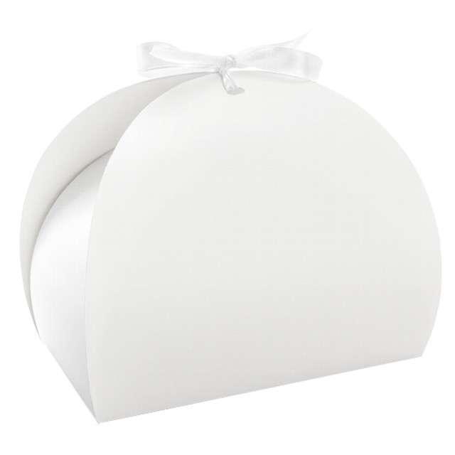 """Pudełko na ciasto """"Premium"""", biały, PartyDeco, 10 szt"""