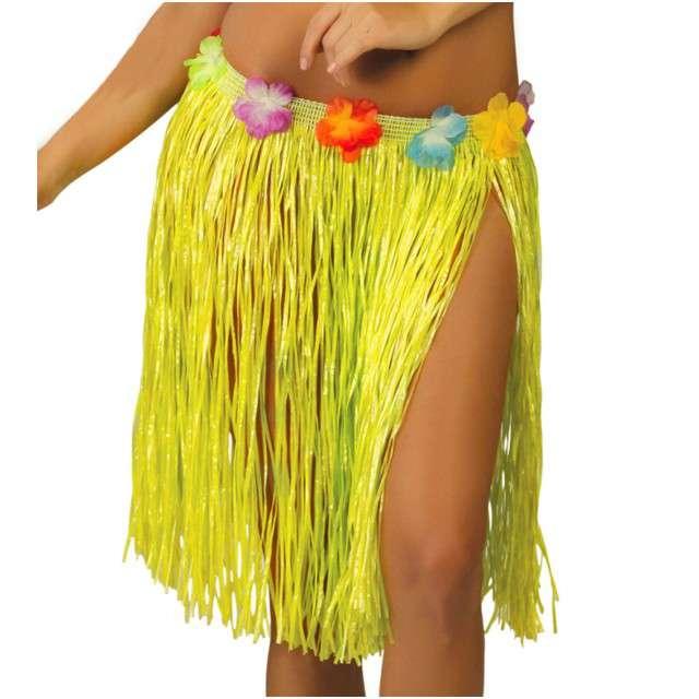 """Spódnica """"Hawajska Krótka"""", żółta, GUIRCA, 50 cm"""