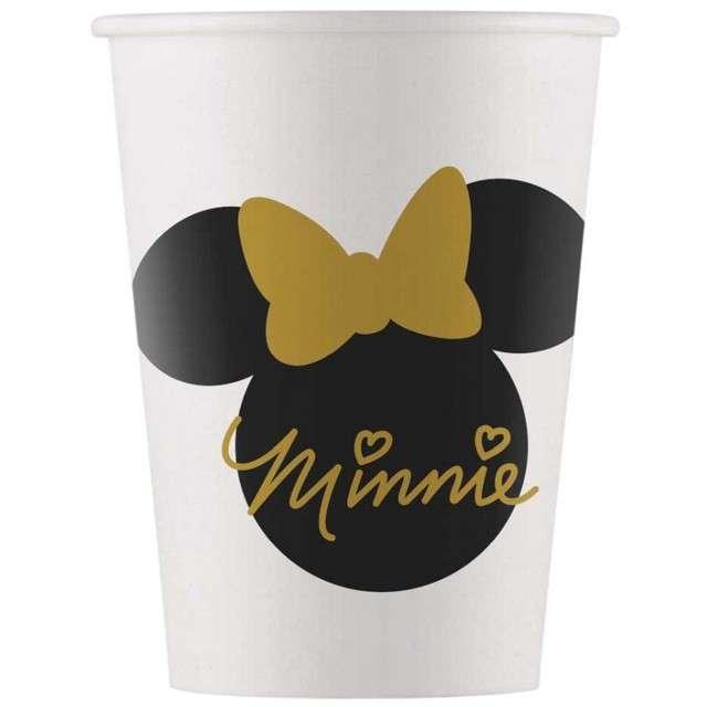 """Kubeczki papierowe """"Minnie Gold"""", PROCOS, 200 ml, 8 szt"""