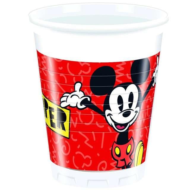 "Kubeczki plastikowe ""Mickey Super Cool"", PROCOS, 200 ml, 8 szt"