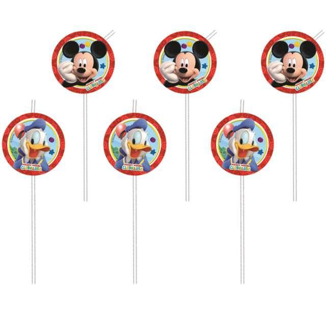 """Słomki """"Playful Mickey"""", PROCOS, 24 cm, 6 szt"""