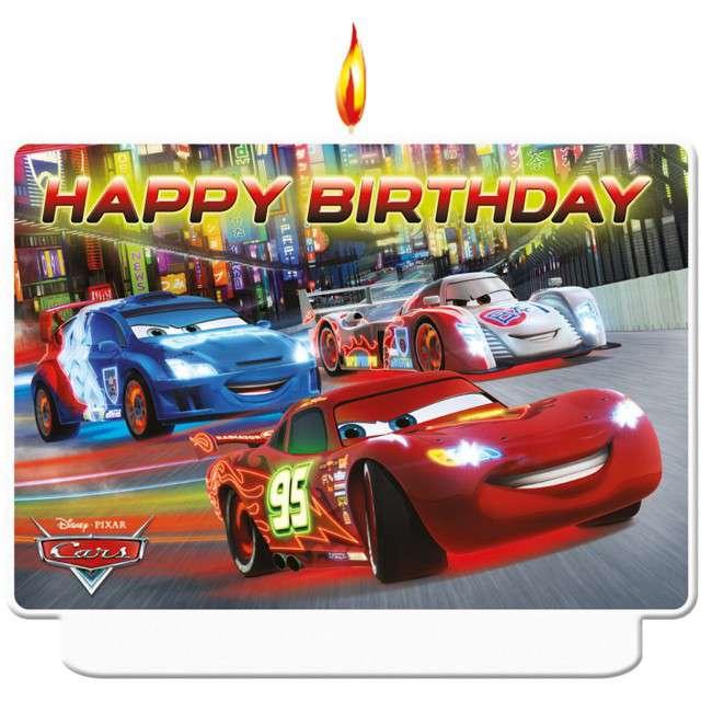 """Świeczka na tort """"Cars Neon Party"""", PROCOS"""