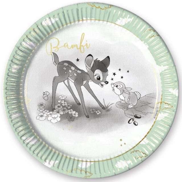 """Talerzyki papierowe """"Bambie Cutie"""", PROCOS, 23 cm, 8 szt"""