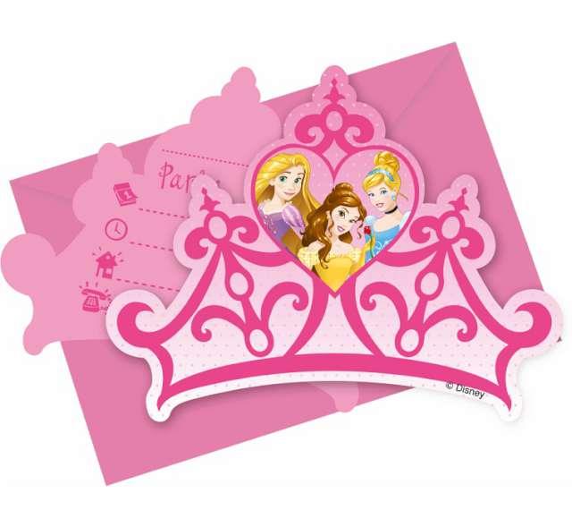 """Zaproszenia urodzinowe """"Princess Dreaming"""", PROCOS, 6 szt"""
